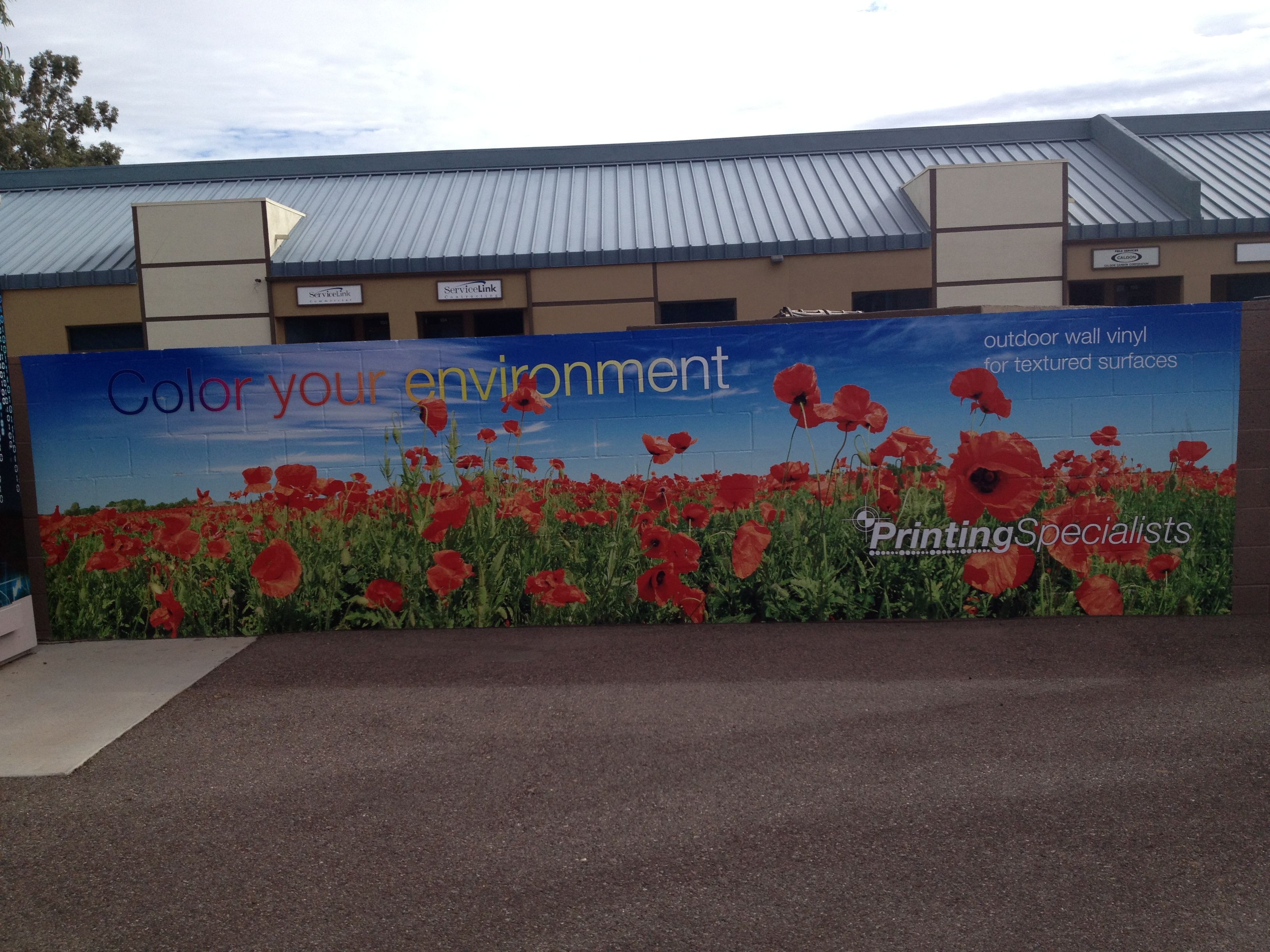 Outdoor Vinyl Wrap Over Brick Wall Graphics Wall Film