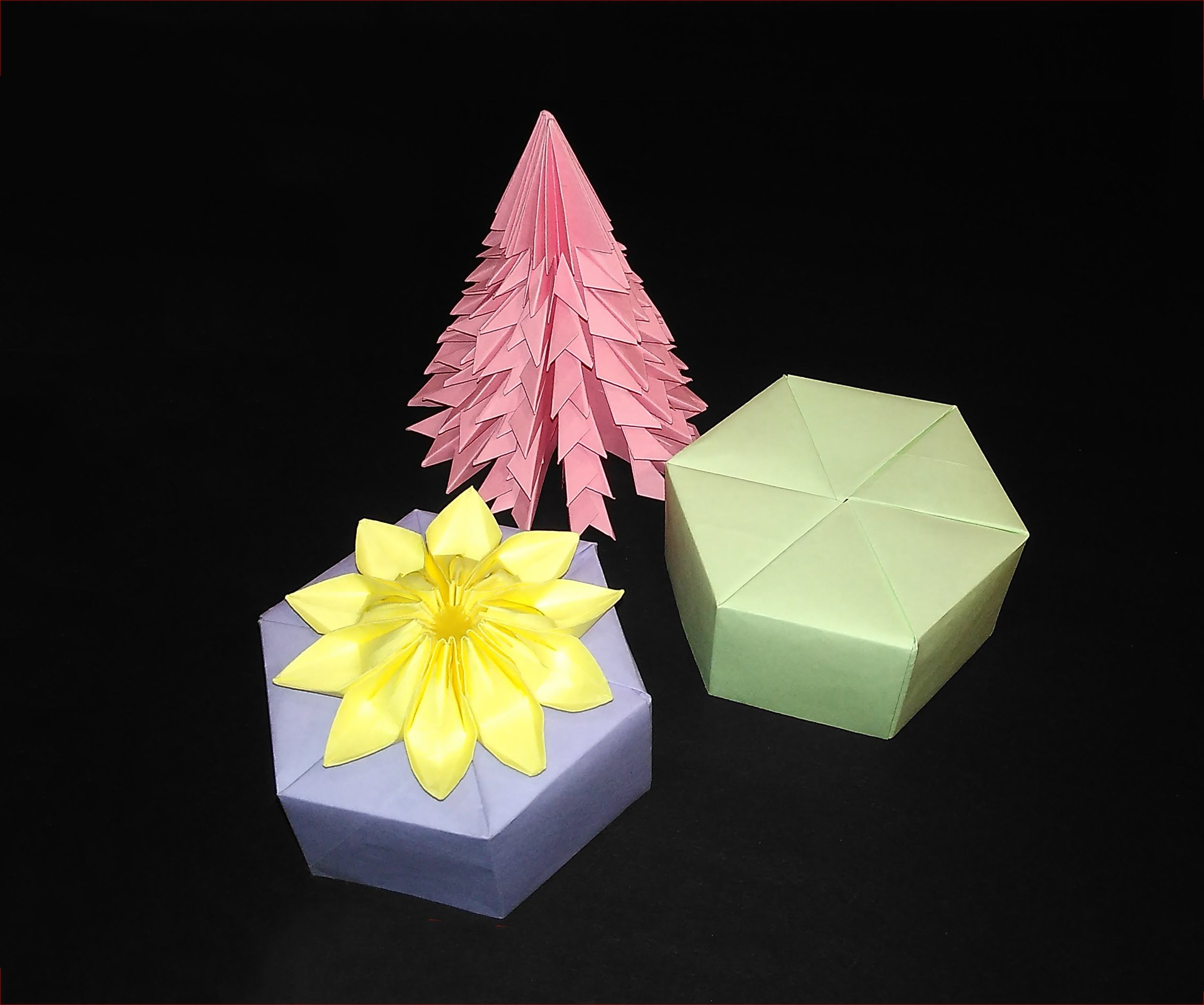 Origami Hexagonal gift box! Easy tutorial of hexagon gift box (Tomoko Fuse)  -