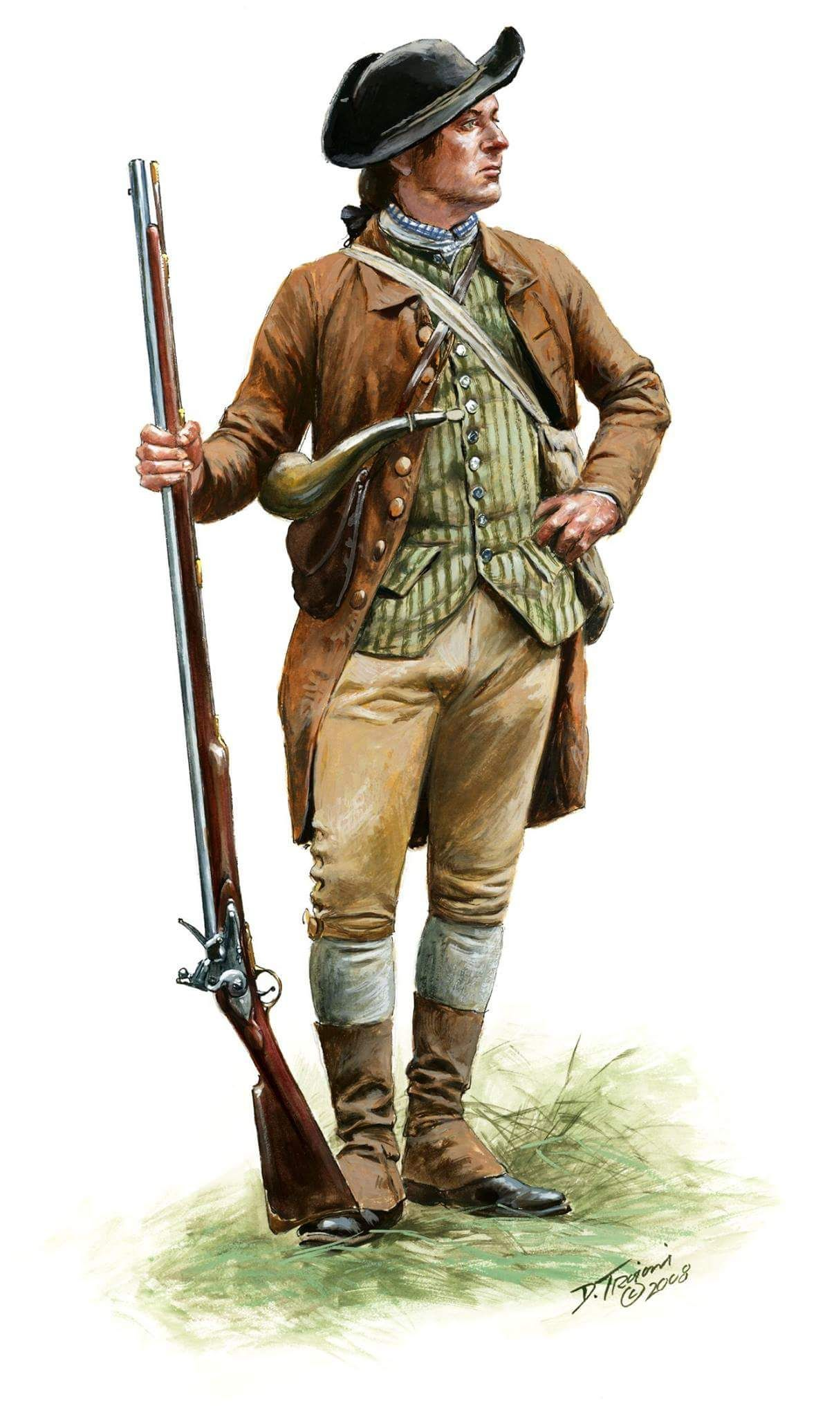 American militia Don Troiani | War of Independence ...