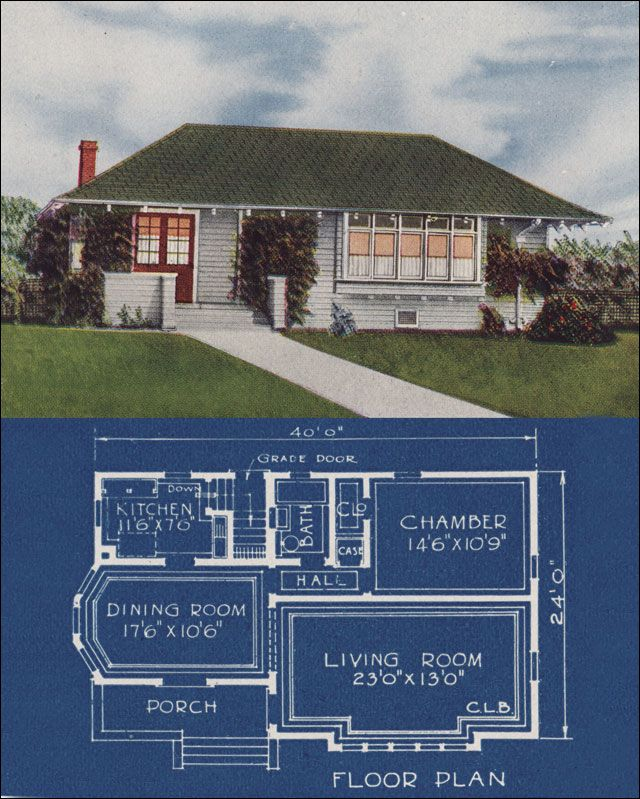 1921 Bungalow Cottage - Hip Roof - Simple 1 Bedroom Home ... on craftsman house plans with hip roof, craftsman style porch roof, ranch house with hip roof, craftsman dormer, craftsman brick bungalow exterior colors, craftsman style house with metal roof, hip roof with gable porch roof,