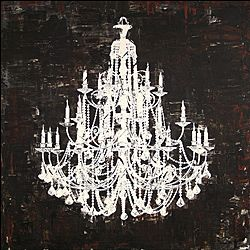 Overstock chandelier white and black ii canvas art artist unknowntitle chandelier white and black iiproduct type canvas art aloadofball Images