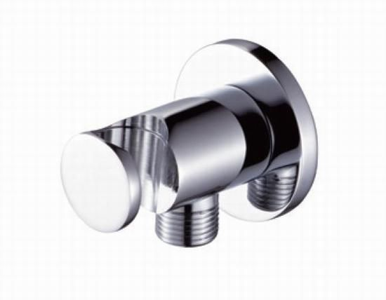 Wall Mounted Hand Shower Bracket Shower Head Holder With Hose Connection  Connector Wall Elbow Unit Spout Brass Polished Chrome WONDLOV W7476