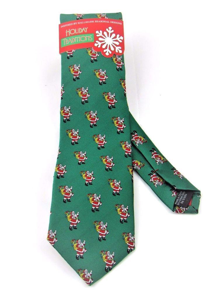 Santa Claus Christmas Men's Necktie Hallmark Holiday Traditions #Hallmark #NeckTie
