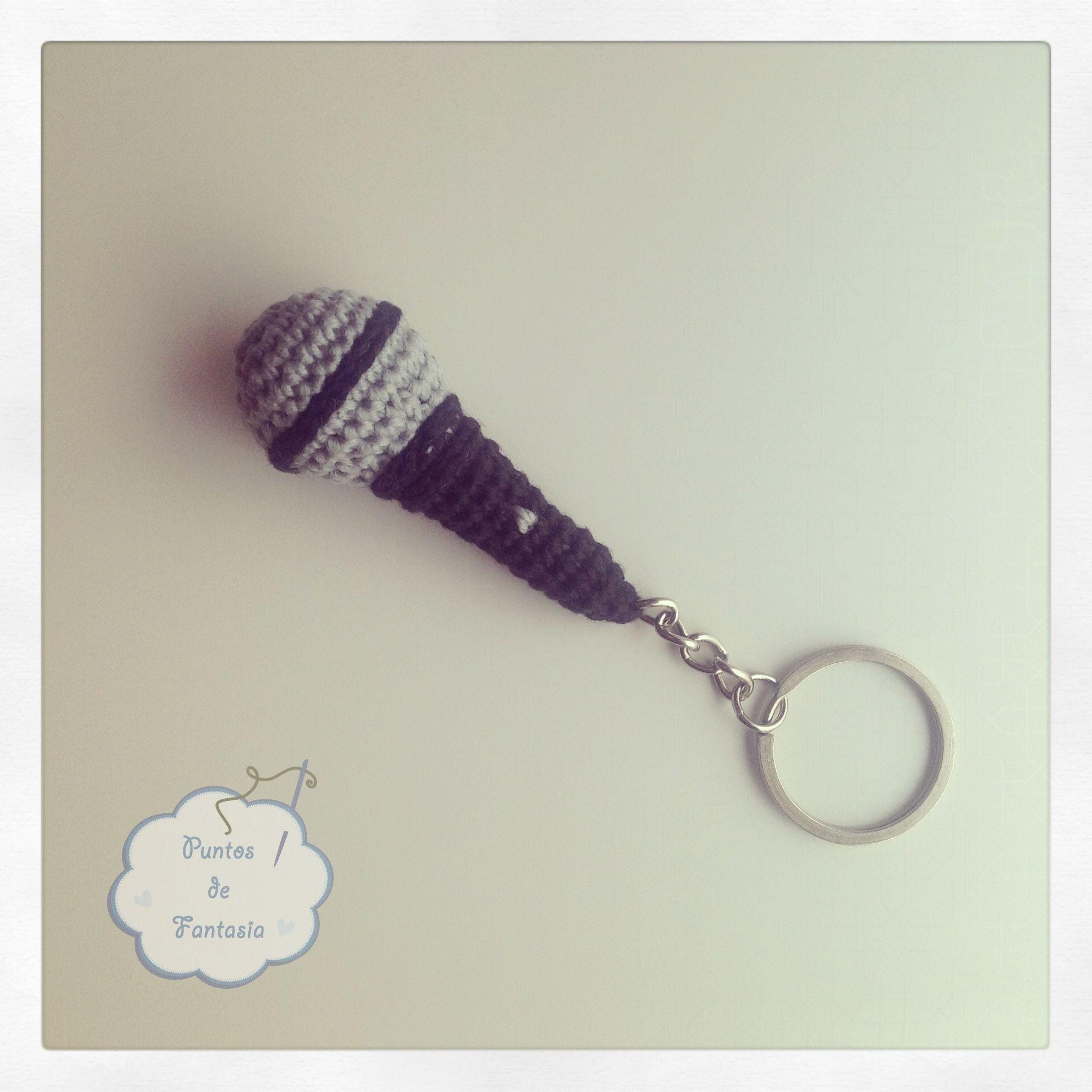 llavero de Micrófono / microphone keyring #amigurumi #keyring ...
