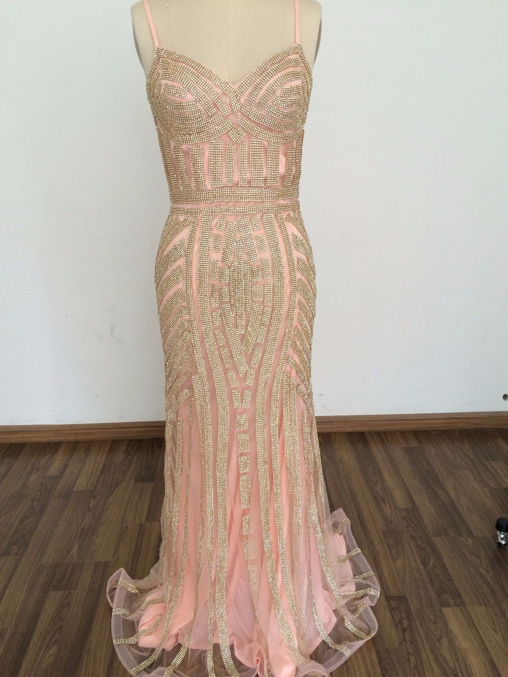 In Stock Mermaid Evening Dresses Crystal Beads Formal Party Gowns with Spaghetti  Strap Long robe de soiree Hot Sale 2017 free shipping worldwide 118c6e7d224b