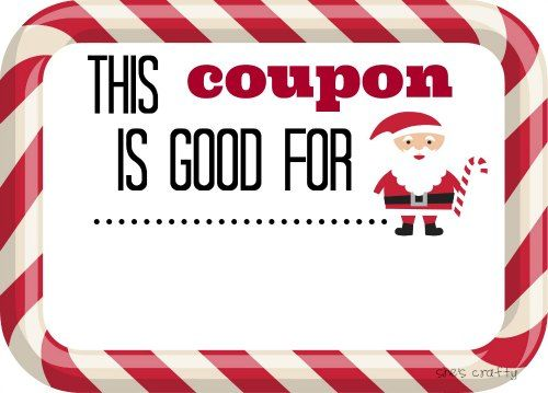 Last Minute Gift Idea Christmas Coupons  Lucky Draw
