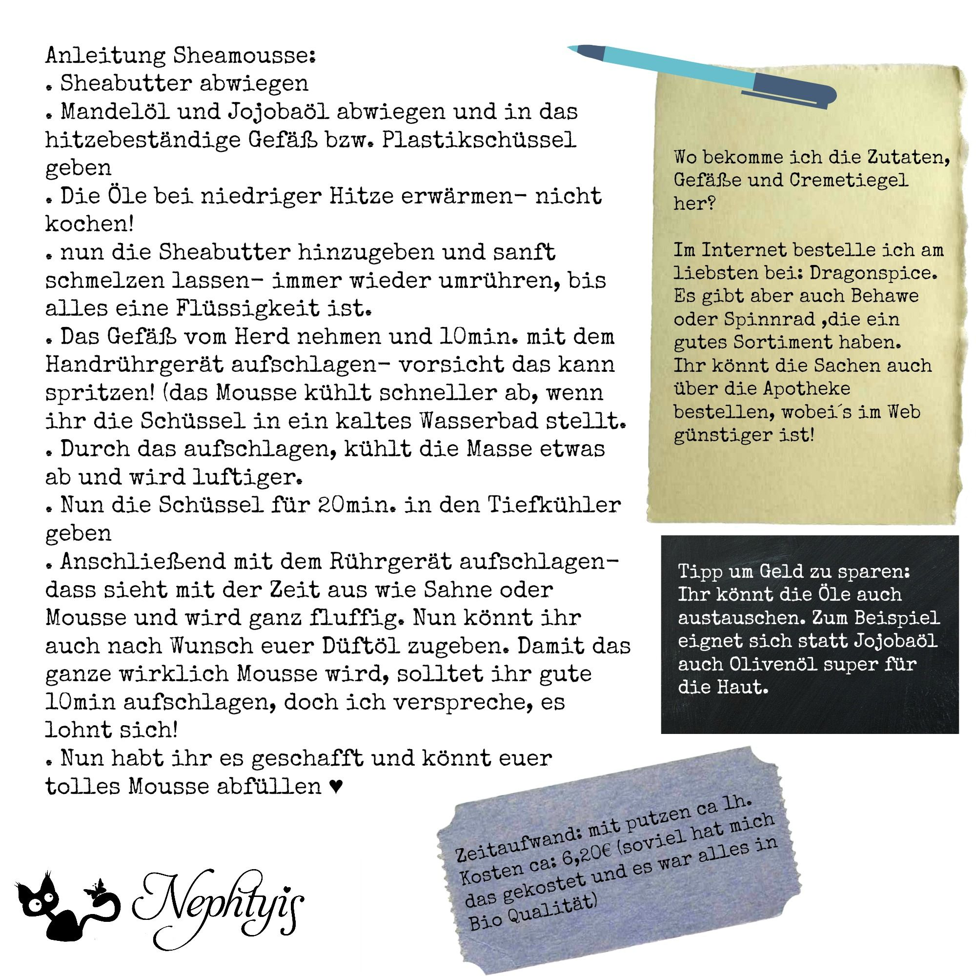 Pflegendes Sheamousse selber machen | Wordpress and Filing