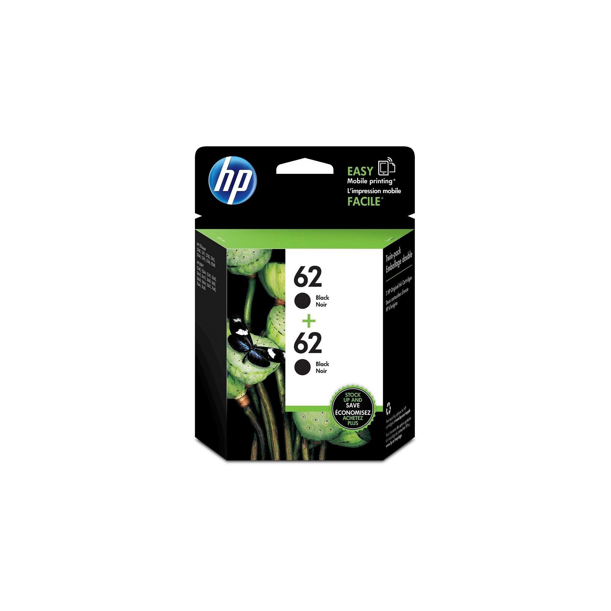 NonOEM HP 62 2pk Ink Cartridges Black (T0A52AN140