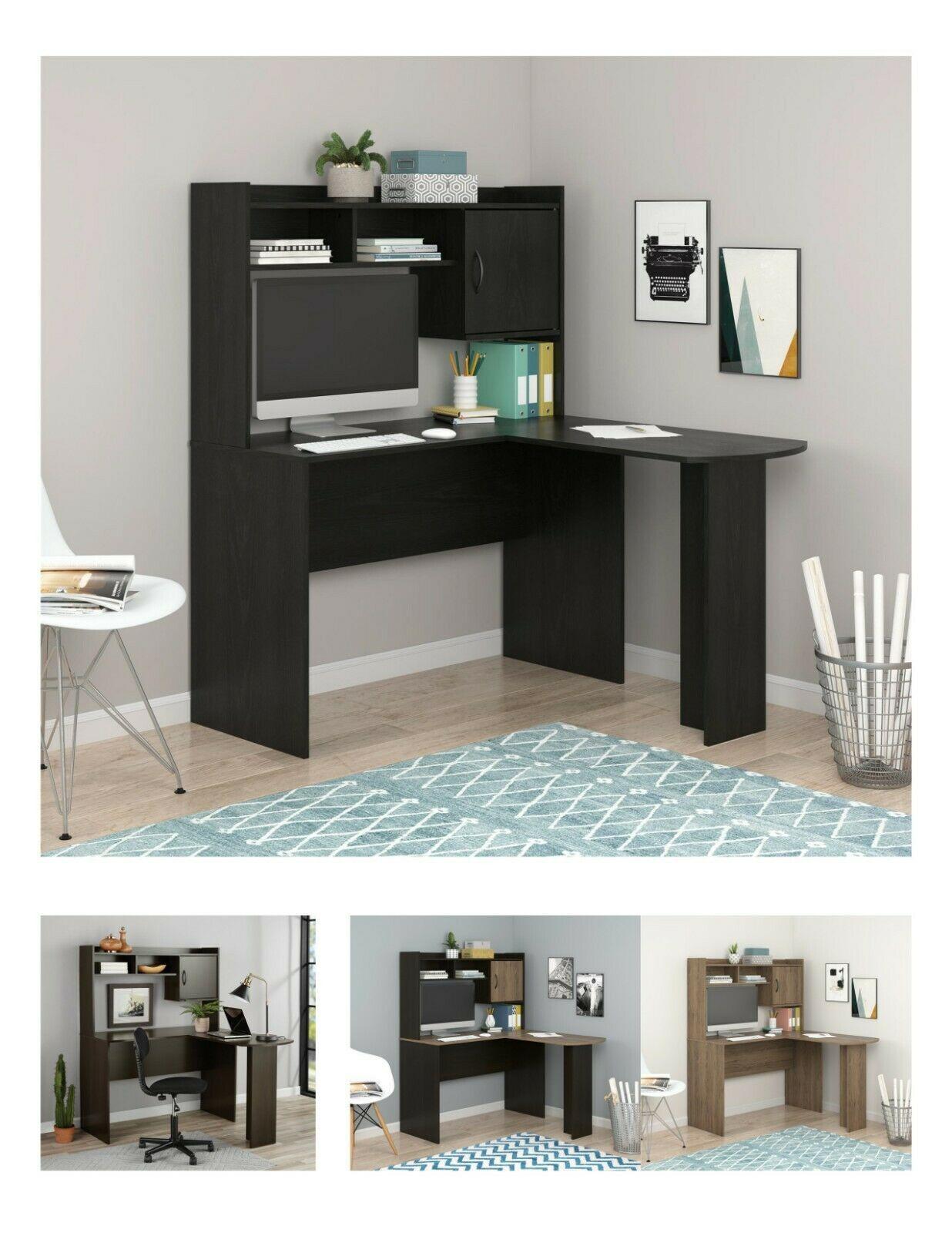 Ameriwood Home Dakota L Shaped Desk With Bookshelves Espresso 2020 In 2020 Bookshelf Desk L Shaped Desk Home