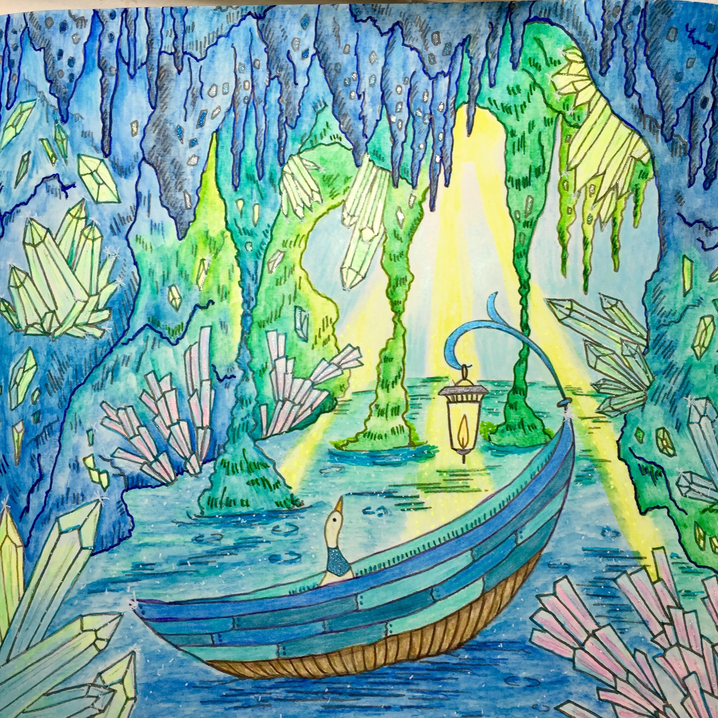 Crystal Cave From Romantic Country 2 Derwent Inktense, Crayola ...