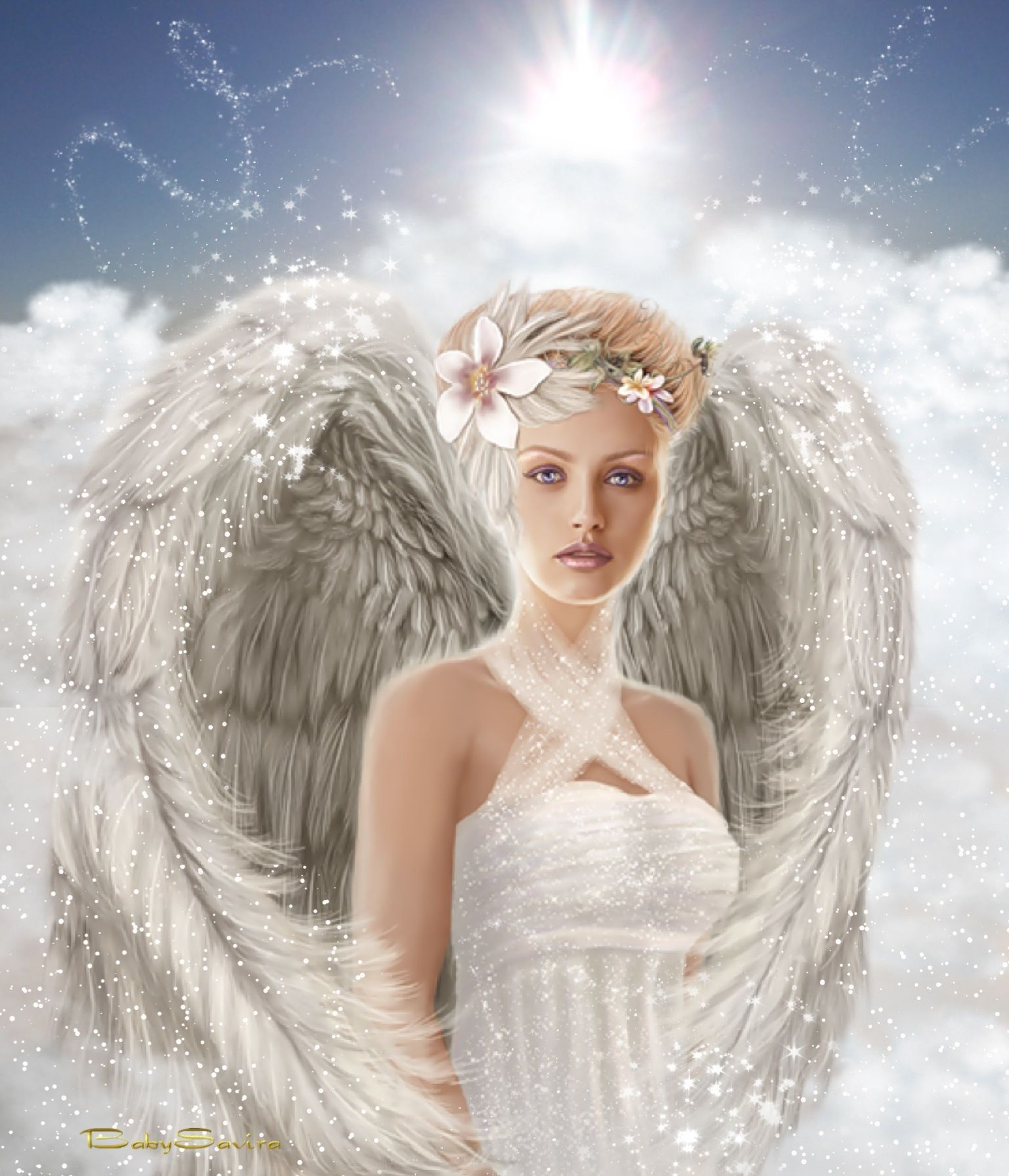 картинка с ангелом береги себя может