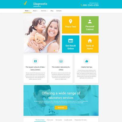 Medical Tema de WordPress Captura de Pantalla Pequeña | Diseño ...