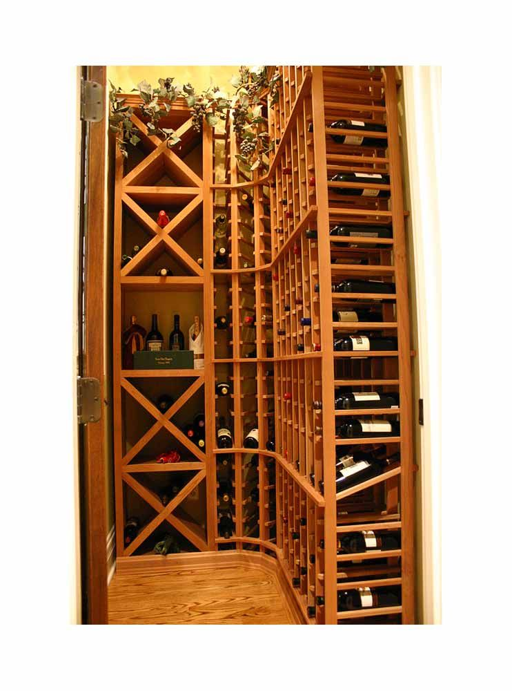 Custom Built Or DiY Corner Wine Rack