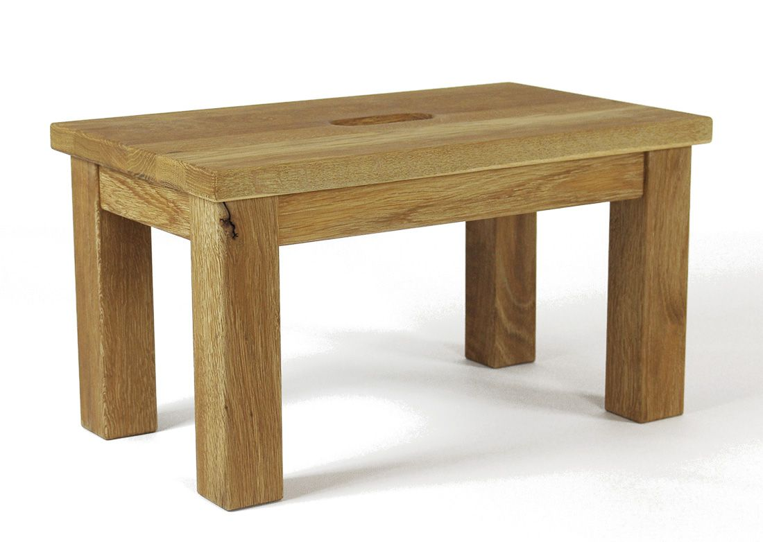 Tritthocker Aus Holz Eiche Altholzoptik Trittschemel Klassik