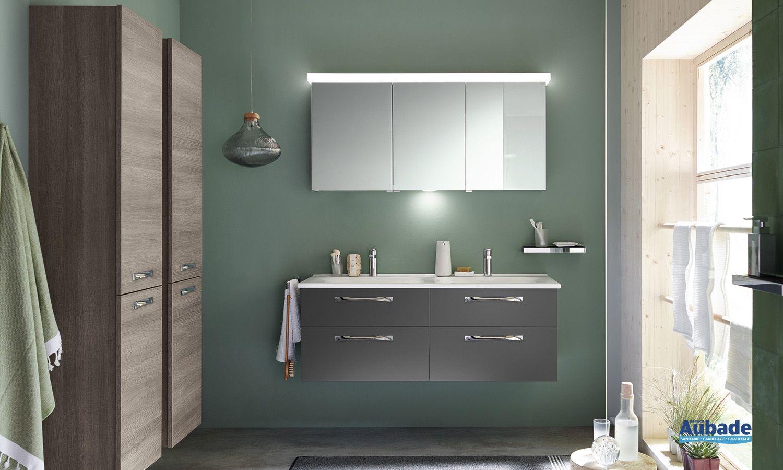 Meuble de salle de bain gris Essento Burgbad