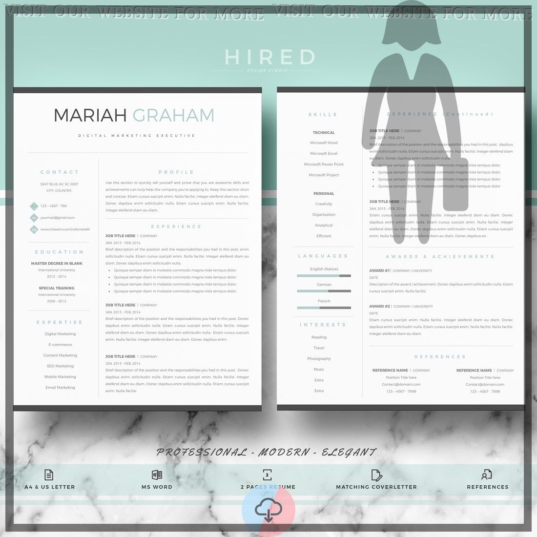 24+ Perfect modern resume design creative layout in 2020