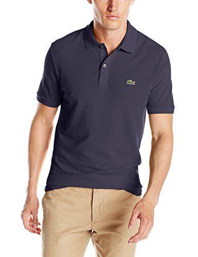 Lacoste Men s Short Sleeve Classic Pique Slim Fit Polo Sh…  910920b767268