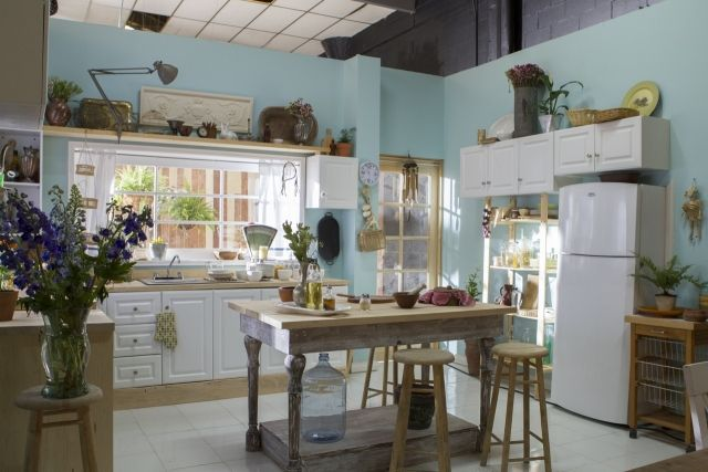 Möbelmix Vintage Küche Holz Stühle Esstisch Abgegriffene Patina