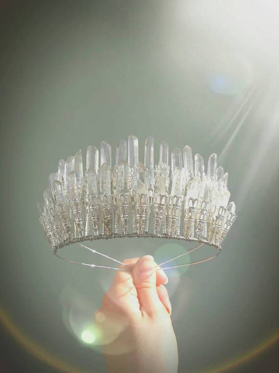Crystal Crown Crystal Headband Rainbow Crystal and Silver Crown Natural Crystals Rainbow Quartz Crystal Point Tiara