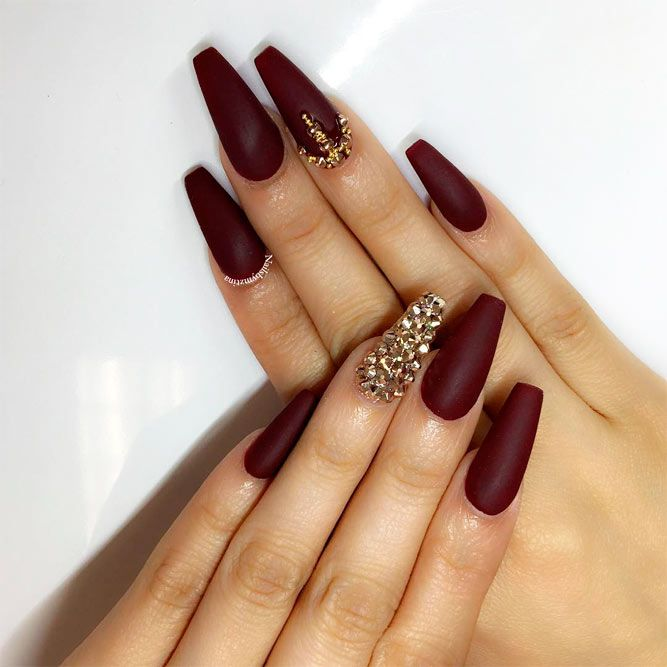 21 Burgundy Matte Nails Designs That Drop Your Jaw Off | Nails ...