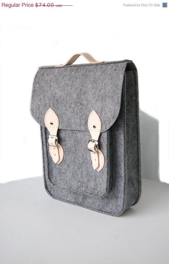 Felt backpack by etoi design