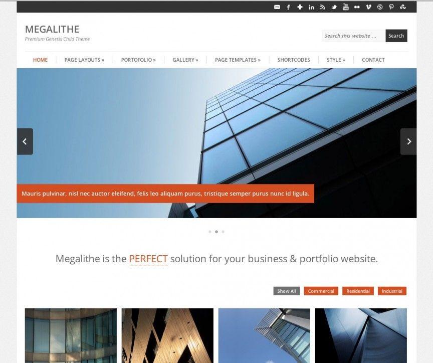 """Megalithe"""" es una nueva Plantilla Premium que funciona con Genesis ..."""