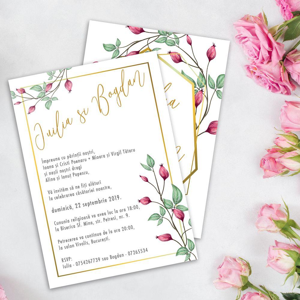 Invitatie De Nunta Cu Flori De Macese Weddpaper Invitatii De