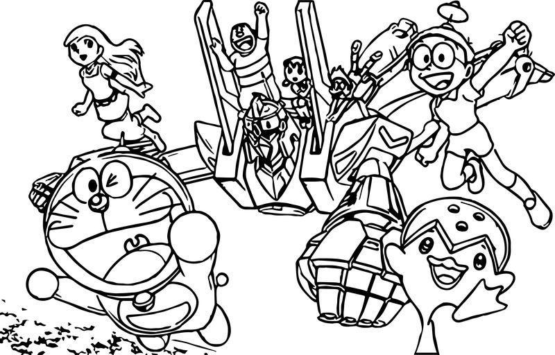 Doraemon In Nobita And The Steel Troops New Age Coloring Page Cartoon Coloring Pages Mermaid Coloring Pages Coloring Pages