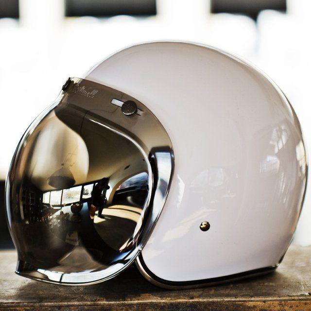 Biltwell Bubble Shield Visor Helmet Motorcycle Helmets Vintage Helmet