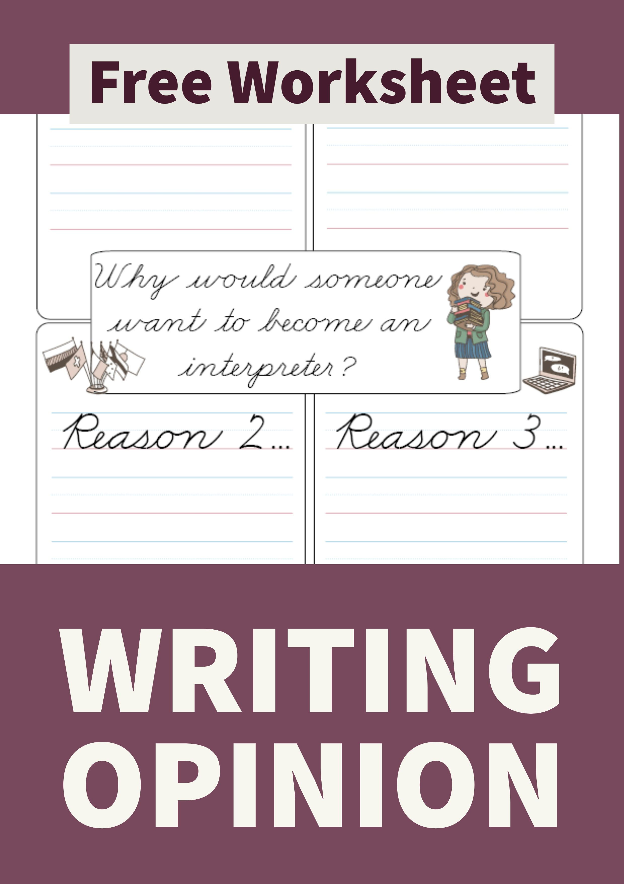 Interpreter Opinion Writing Cursive Primarylearning Org Free Homeschool Resources Freewriting Opinion Writing [ 3509 x 2480 Pixel ]