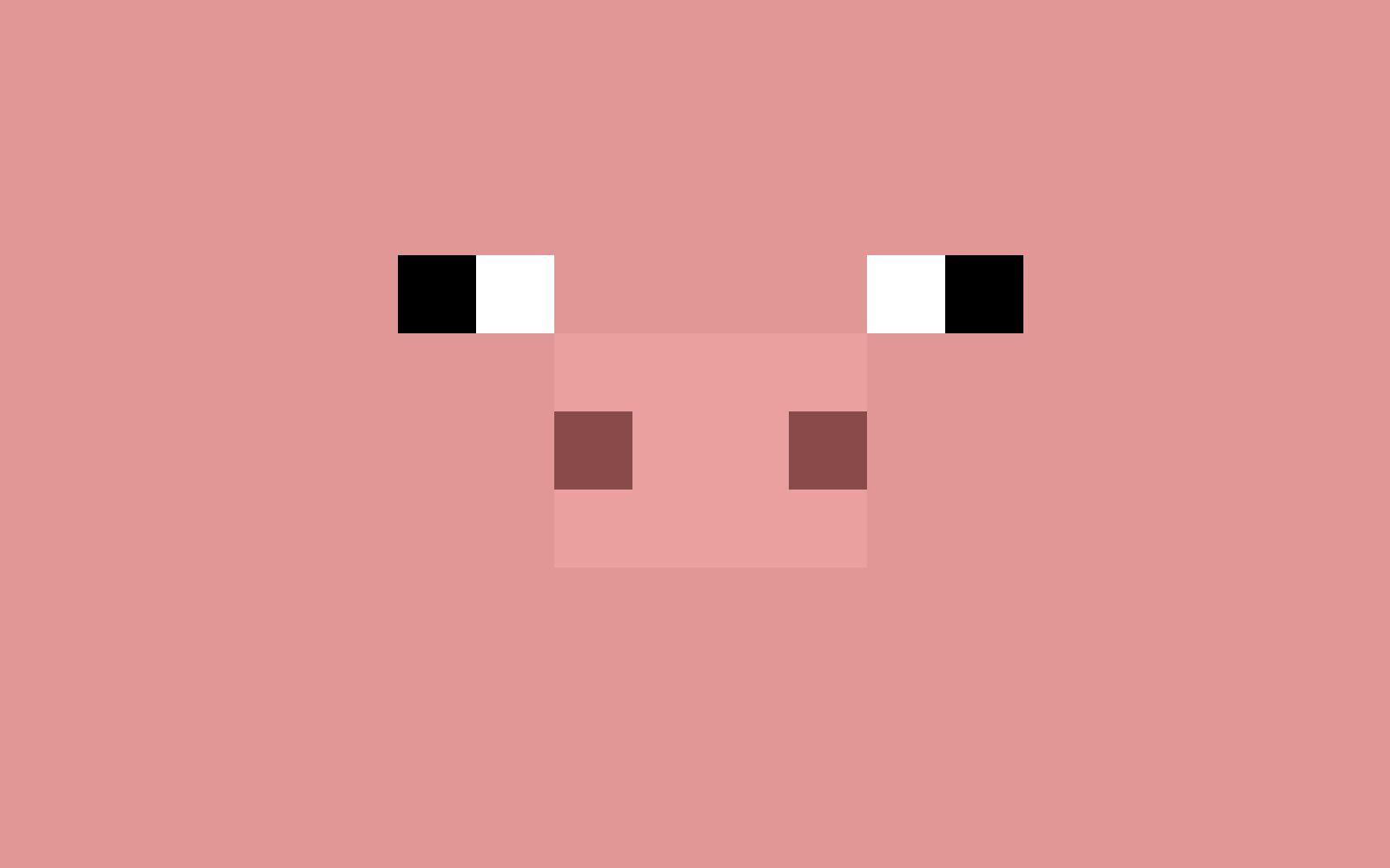 Pin By April Lapierre Kvetkosky On Minecraft Party Minecraft Pig Minecraft Pig Face Minecraft Wallpaper