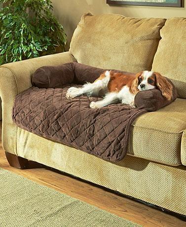 Amazing Plush Quilted Super Soft Pet Bed With Bolster Pillow In 2019 Inzonedesignstudio Interior Chair Design Inzonedesignstudiocom