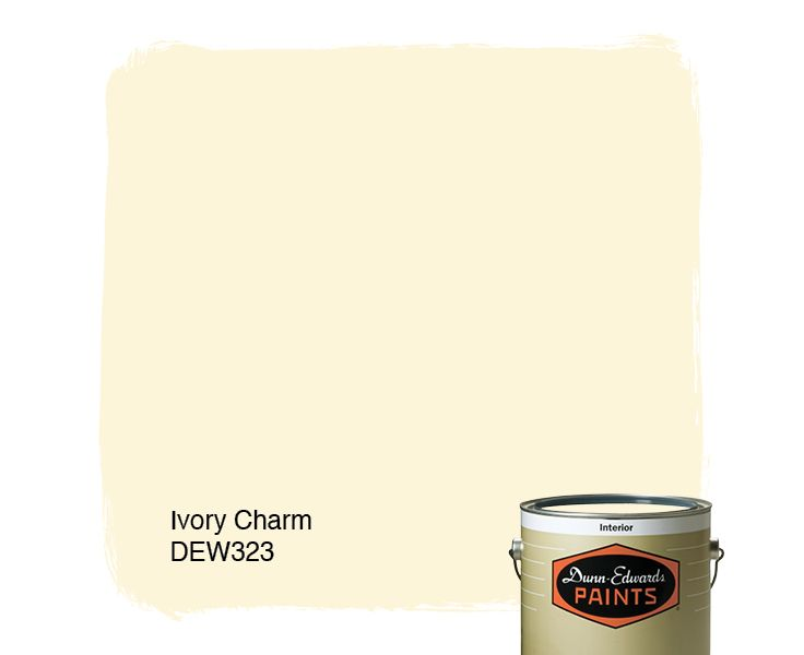 Dunn-Edwards Paints paint color: Ivory Charm DEW323 | Click for a free color sample