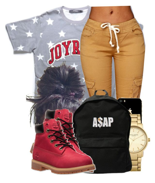 """""""She's Rough."""" by jaziscomplex ❤ liked on Polyvore featuring Topshop, ASAP and Timberland"""