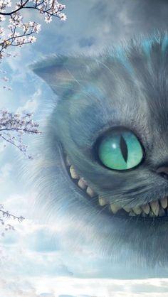 Chat Alice Aux Pays Des Merveilles : alice, merveilles, Cheshire,, Alice, Merveilles,, D'écran, Téléphone
