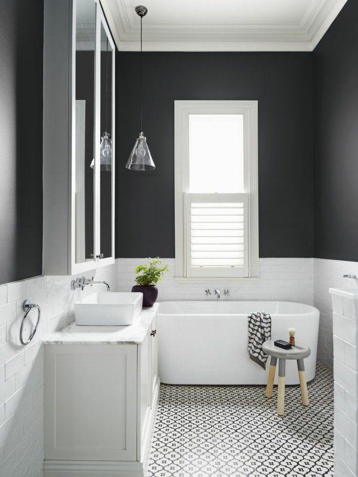 vous cherchez des idées pour un carrelage noir et blanc? on vous ... - Salle De Bain Moderne Noir Et Blanc