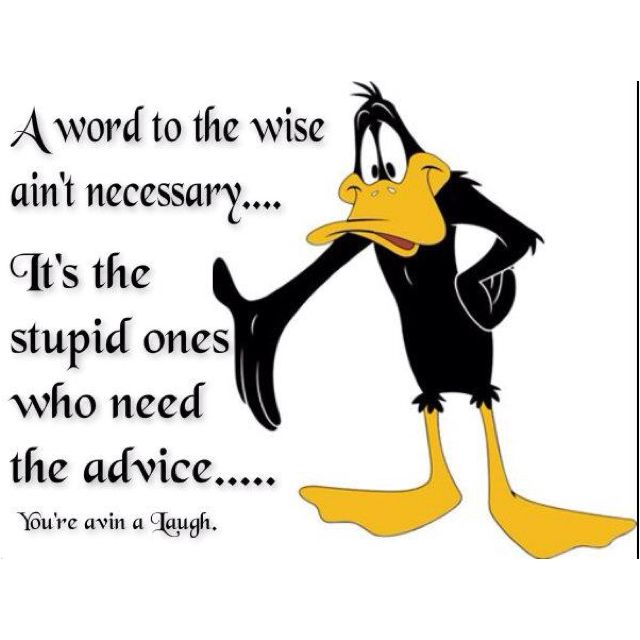 Classic Daffy Duck ((Somehow, I Can Just Hear You Saying That Dad.