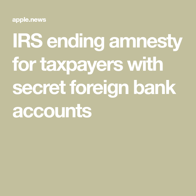 irs reporting foreign bank accounts