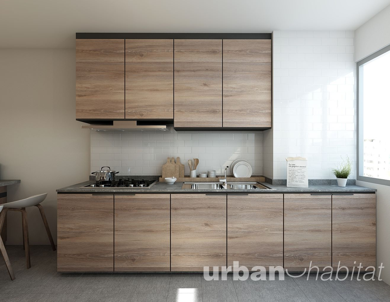 Kitchen Design Ideas Singapore hdb 3-room resale modern eclectic @ serangoon north - interior
