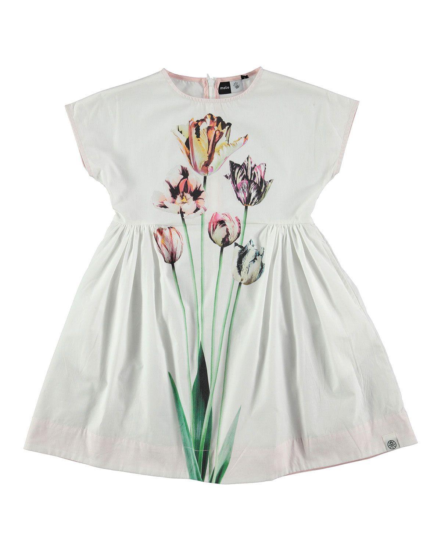 90875a848410 Cap-Sleeve Poplin Tulip Dress