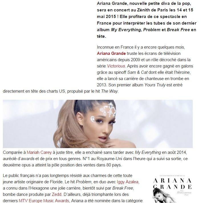 Qui est Ariana Grande datant mai 2015
