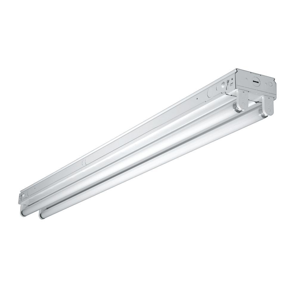 Metalux 2 Light 8 Ft White Fluorescent Strip Light With 2 T12