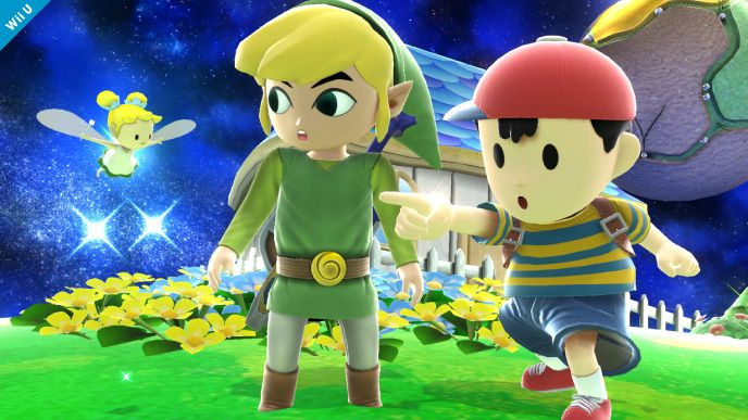 Ness and Toon Link SSB4. YES!!!!!!!!!!!!! BOTH OF THOSE