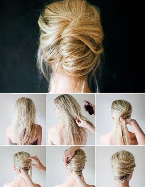 Coiffure sur cheveux court facile a faire