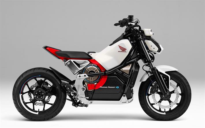 Herunterladen Hintergrundbild Honda Reiten Assist E 2018 Bikes E