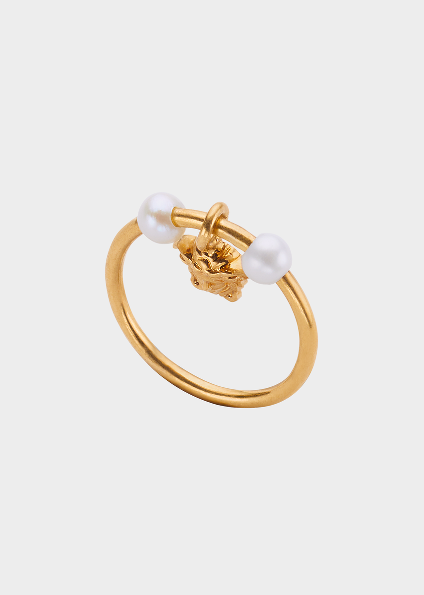 85bf58df73f94 Medusa Pearl Ring for Women   Official Website   Accessories ...