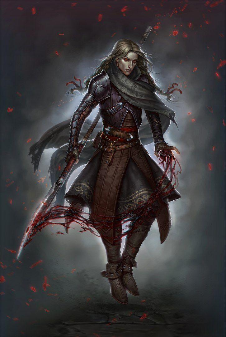 Fantasy Art Cloaked Warrior