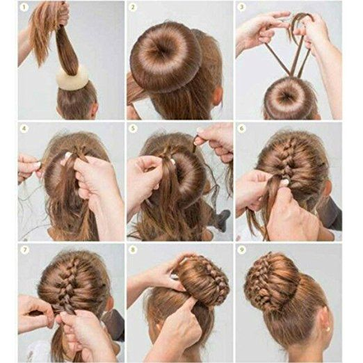 Shells 2pcs Beige Beauty Buns Former Round Twist Ring Shaper Magic Hair Styling Tool Donut Doughnut Ring Styling Me Hair Styles Long Hair Styles Pinterest Hair