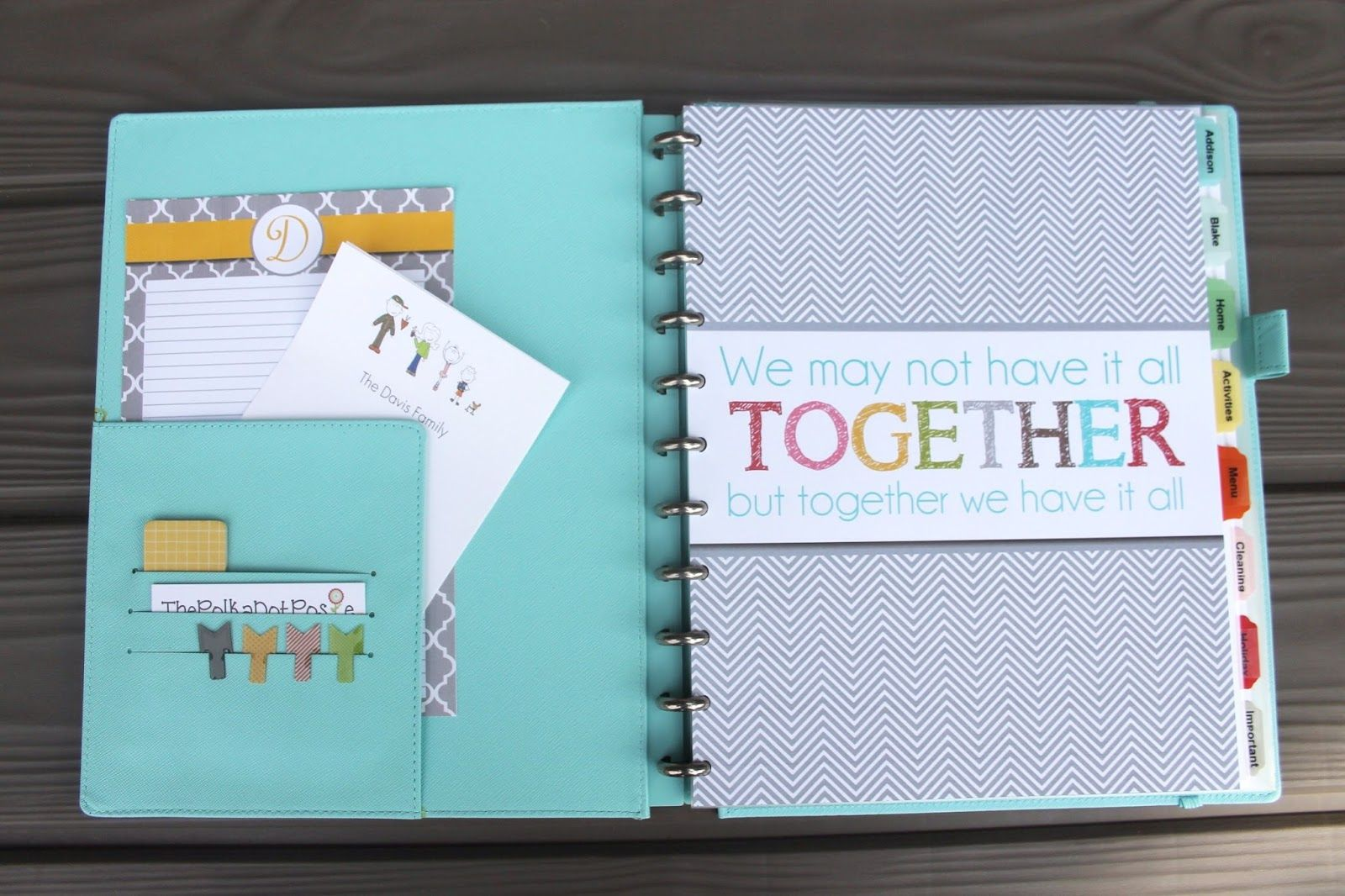 The polka dot posie how to build your perfect planner for Home construction organizer