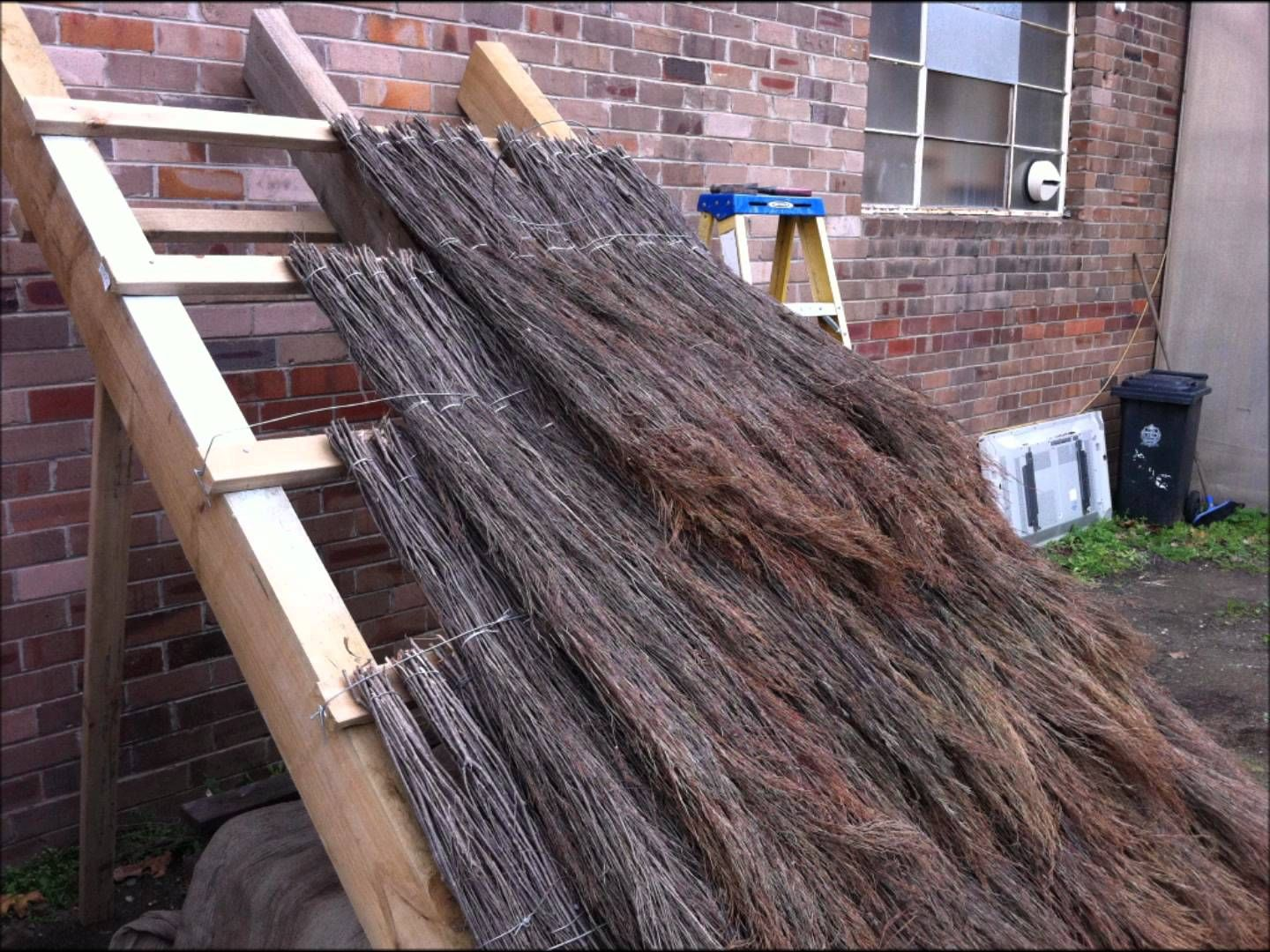 How To Build A Balinese Style Thatch Roof With Quickthatch Thatched Roof Roofing Diy Gazebo Roof